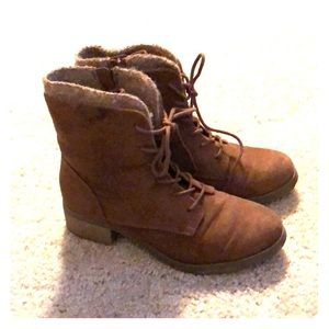Brown day boots